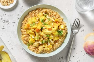 Curry de poulet à la pomme et aux navets image