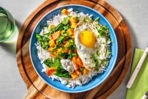 Curry met spinazie en zoete aardappel image