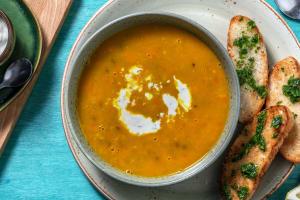 Curry-Linsensuppe mit Süßkartoffel image