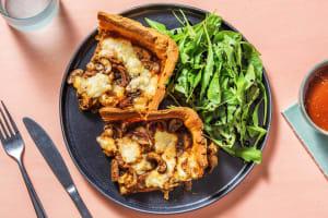 Deep Dish Mushroom and Mozza Pizza image