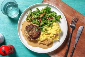 """Deftige """"Fleischpflanzerl"""" mit Kartoffelstock image"""