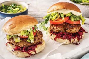 Dijon Beef Burgers & Sweet Potato Chips image
