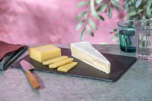 Duo de fromages : Brie Pasteurisé (200g) | Comté 6 mois (200g) image