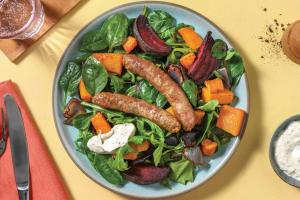 Easy Herbed Pork Sausages & Veggie Traybake image