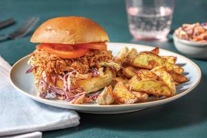 Easy BBQ Pulled Pork & Slaw Burger image