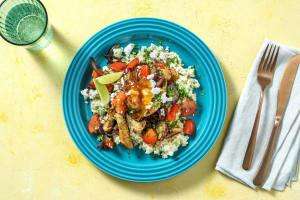 Kipfajita met paprika en rijst met een twist image