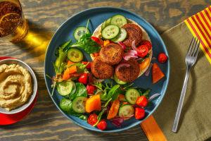 Falafel Rainbow Wraps image