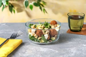 Falafel and Avocado Salad with Feta and French Dressing image