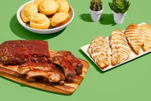 Fall-Off-The-Bone Baby Back Ribs, Chicken Cutlets & Cornbread image