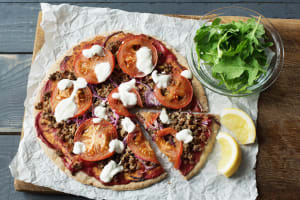 Family Moroccan Lamb Pizzas image
