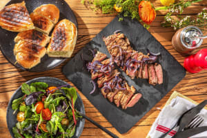 Father's Day Grilled Steak and Balsamic Onions image