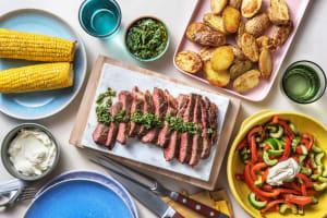 Faux-filet & sauce chimichurri maison image