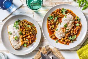 Filet de merlu & pois chiches à la provençale image