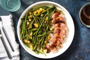 Filet de porc poêlé & sauce fraise-balsamique image