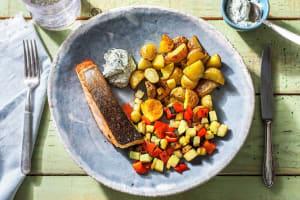 Filet de saumon poêlé et mayonnaise à l'aneth image