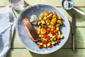 Filet de saumon poêlé & mayonnaise à l'aneth image