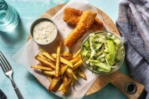 Fish & chips de lieu jaune image