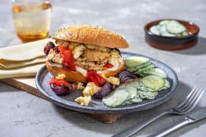 Fladenbrot-Sandwich mit Hähnchenbrust image