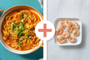 Fragrant Chicken and Prawn Laksa image