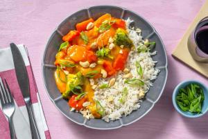 Fruchtiges Curry mit Mangosoße & buntem Gemüse image