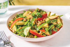 Asian Snow Pea, Cucumber and Apple Salad image