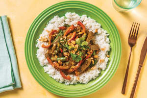 Bengal Beef Curry with Rice & Veggies image