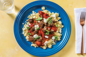 Mediterranean Beef & Tomatoes with Couscous & Fetta image
