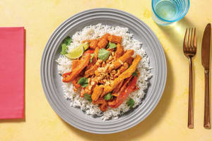 Thai Red Pork Curry with Rice, Peanuts & Coriander image