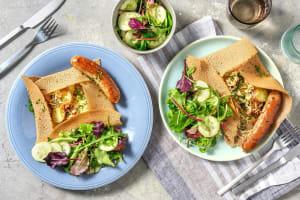 Galette bretonne à la saucisse de porc grillée image