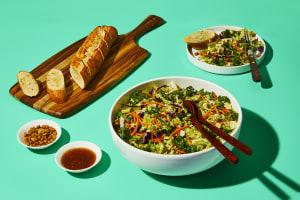 Garlic Bread & Crunchy Sesame Salad Combo image