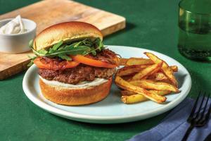 Garlic & Herb Beef Burger with Peppercorn Aioli image