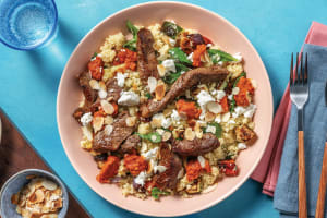 Garlic-Herb Beef & Crumbly Cheese image