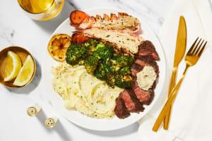 Garlic Herb Butter Steak & Lobster Tails image
