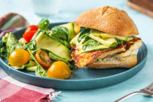 Garlic Pan-Seared Halloumi Sandwich image