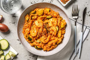 Garlicky Prawn and Tomato Orzo image