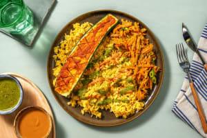 Gebackene Curry-Zucchetti mit Thai-Basil-Pesto image