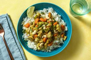 Gelbes Curry mit Fisch image
