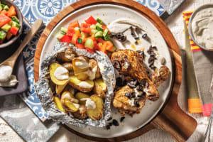 Pilons de poulet marinés et pommes de terre rôties image