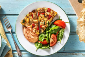 Kartoffel-Tortilla mit buntem Gemüse image