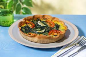 Gemüse-Quiche mit Spinat image