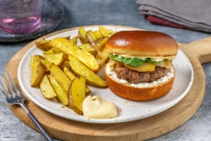 Goat Cheese and Pear Burgers image