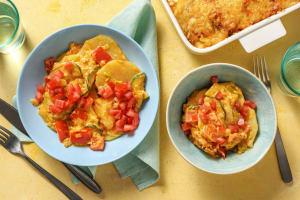 Romige ovenschotel vol met groenten image