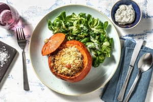 Gratinierter Ofenkürbis mit Harissa-Quinoa image