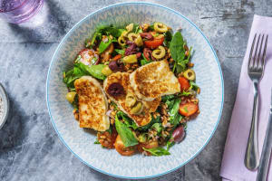 Greek Grain and Golden Halloumi Salad image