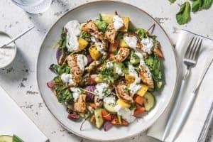 Greek Pork & Roast Potato Salad image