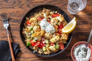 Greek Roasted Cauliflower and Bulgur Pilaf image
