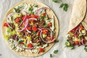 Speedy Greek Style Beef Wraps image
