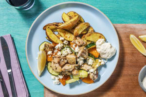 Greek-Style Chicken and Potatoes image