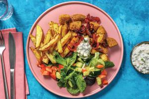 Greek-Style Falafel & Fries image