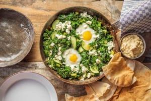 Green Shakshuka with Hummus image
